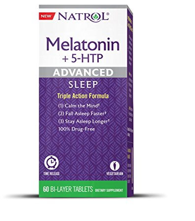 Natrol, Melatonin + 5-HTP, Advanced Sleep, 60 Bi-Layer Tablets
