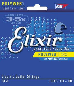 สายกีต้าร์ไฟฟ้า Elixir Polyweb, Coated, เบอร์ 10-46
