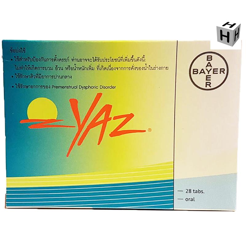 YAZ (DROSPIRENONE, ENTHINYLESTRADIOL) – 28 TABLETS 1 BOX
