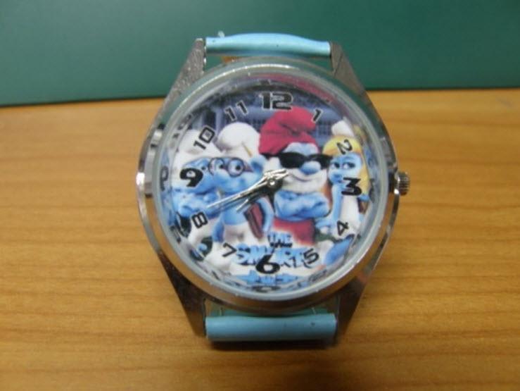 นาฬิกาข้อมือ Smurf (A) สายสีฟ้า