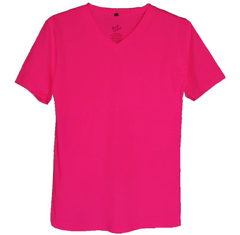 เสื้อยืดสีพื้นไม่สกรีน คอวี สีบายเย็น