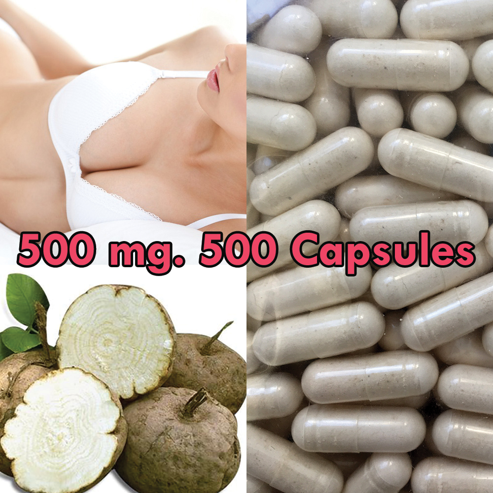 PUERARIA MIRIFICA NATURAL BREAST BUST ENLARGEMENT 100 CAPSULES 500 mg.: 5 PACK