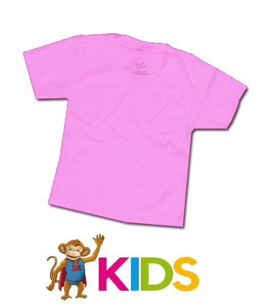 เสื้อยืืดเด็กสีพื้นไม่สกรีน สีชมพูอ่อน