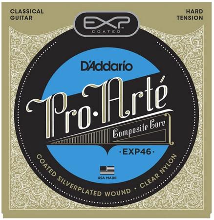สายกีต้าร์คลาสสิค D'Addario EXP46, Coated, Hard Tension
