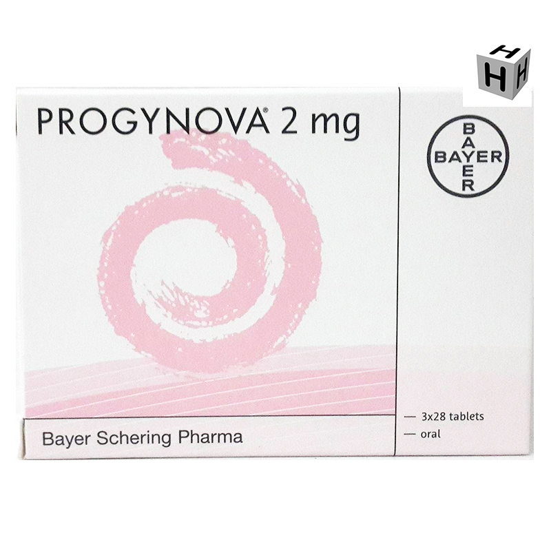PROGYNOVA 2mg.(Oestradiol Valelate) 3 x 28 TABLETS : 4 BOXES