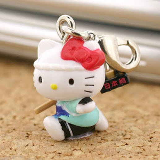 ที่ห้อยมือถือคิตตี้ท่องเที่ยวญี่ปุ่น (A)