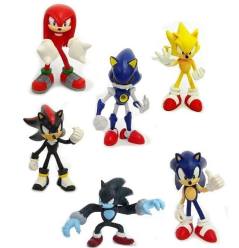ฟิคเกอร์ Sonic ชุด 6 ตัว ขนาด 2.5 นิ้ว (B)