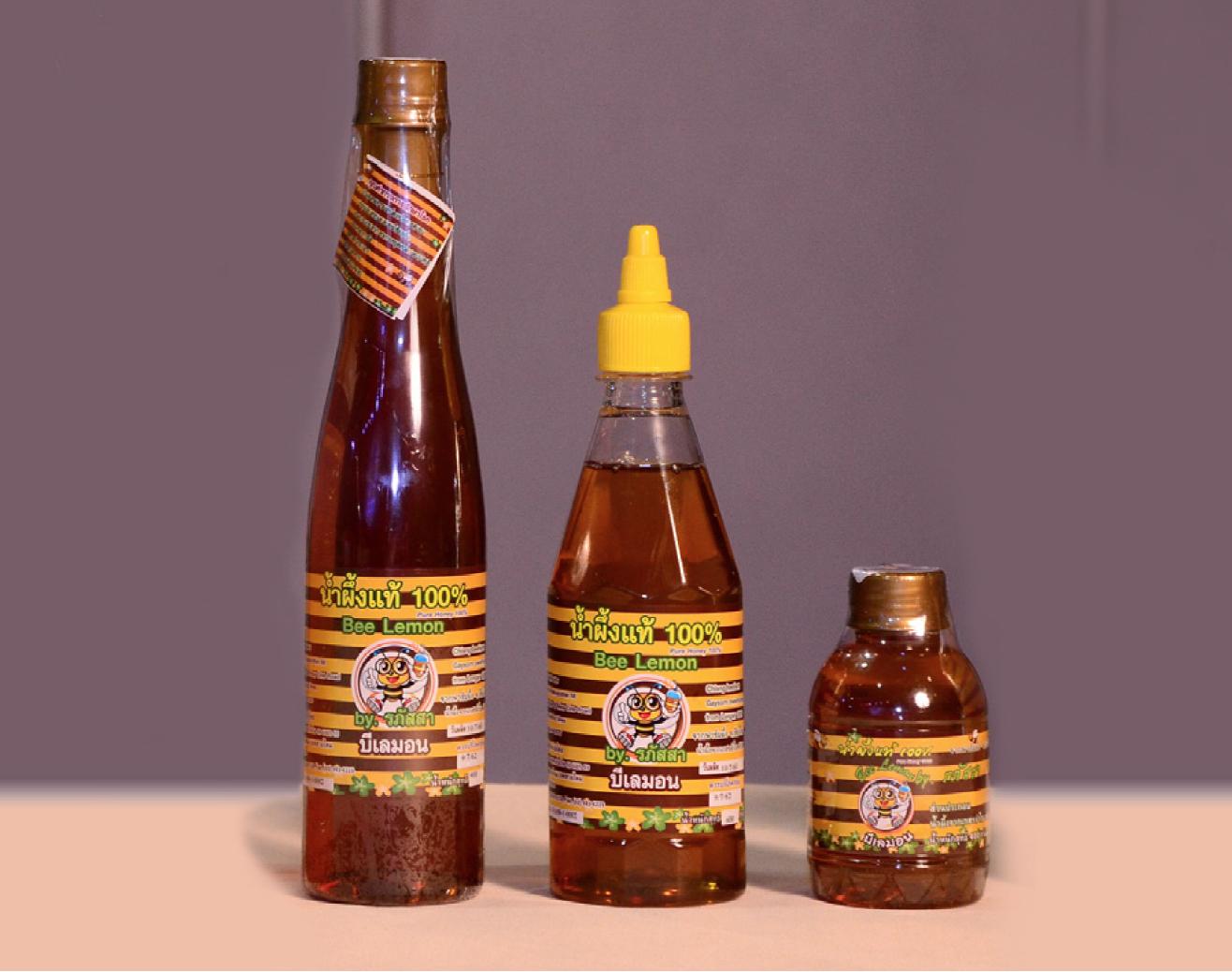 A12004 น้ำผึ้งจากเกสรดอกลำไย (ตราBeelemon)