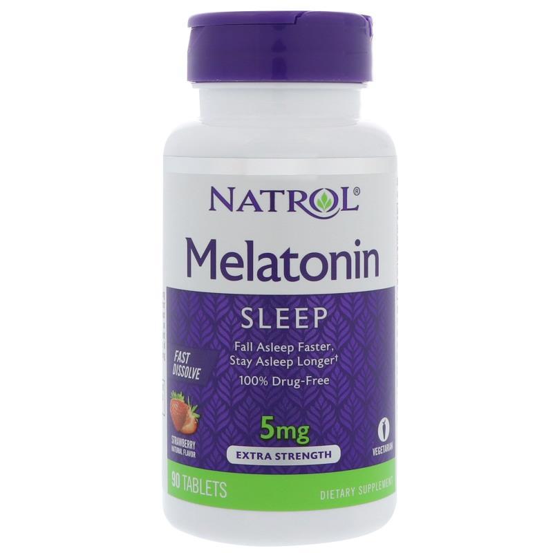 เมลาโทนิน(Melatonin) Fast Dissolve, เม็ดอม, 5 mg 90 Tablets