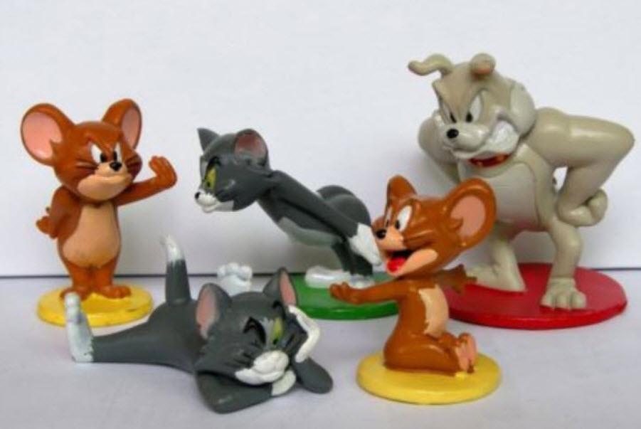 โมเดล Tom & Jerry ชุด 5 ตัว ขนาด 2.75 นิ้ว