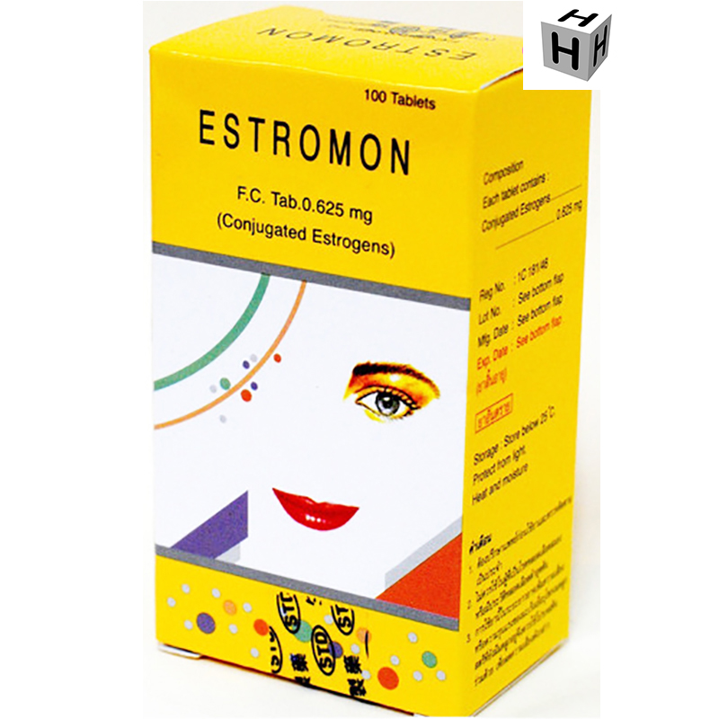 ESTROMON 0.625 mg. 100 Tablets : 5 BOXES