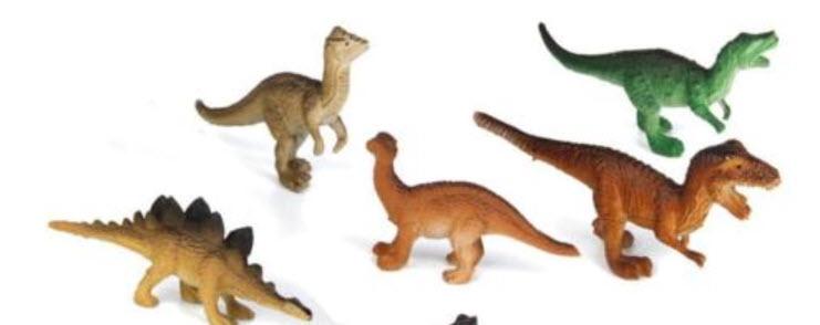 โมเดลไดโนเสาร์คละแบบ 12 ตัว