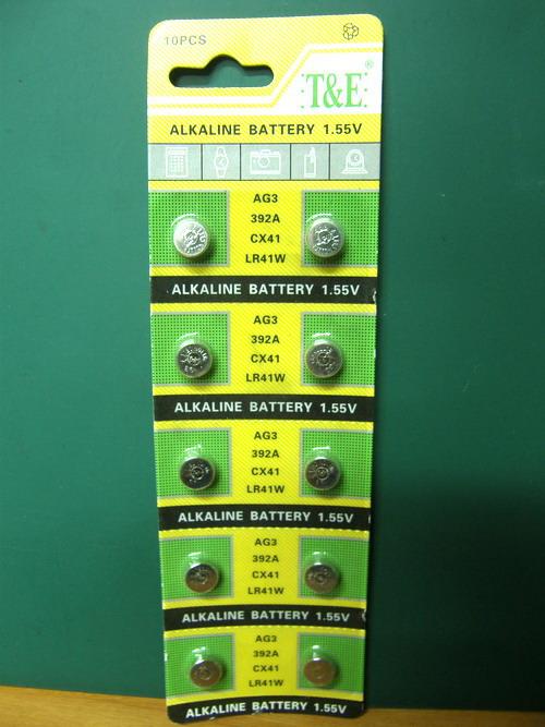 ถ่านกระดุมอัลคาลายน์ T&E (LR41W) 1.55 V