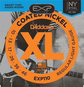 สายกีต้าร์ไฟฟ้า D'Addario EXP110, Coated, เบอร์ 10-46