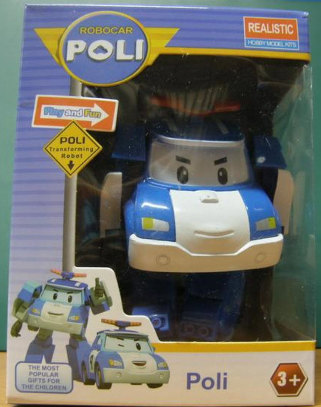 หุ่นยนต์แปลงร่างรถตำรวจ Poli ขนาด 10 ซ.ม. (รุ่นประหยัด)