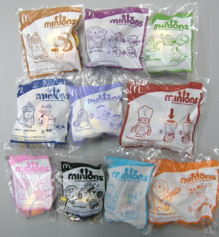 ฟิคเกอร์ Minions ครบชุด 10 ตัว (แม็คไทย)