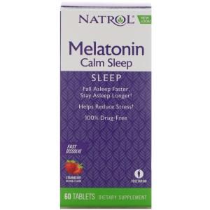 หลับเร็ว หลับง่ายขึ้น ลดเครียดกับ Melatonin Calm Sleep, Fast Dissolve