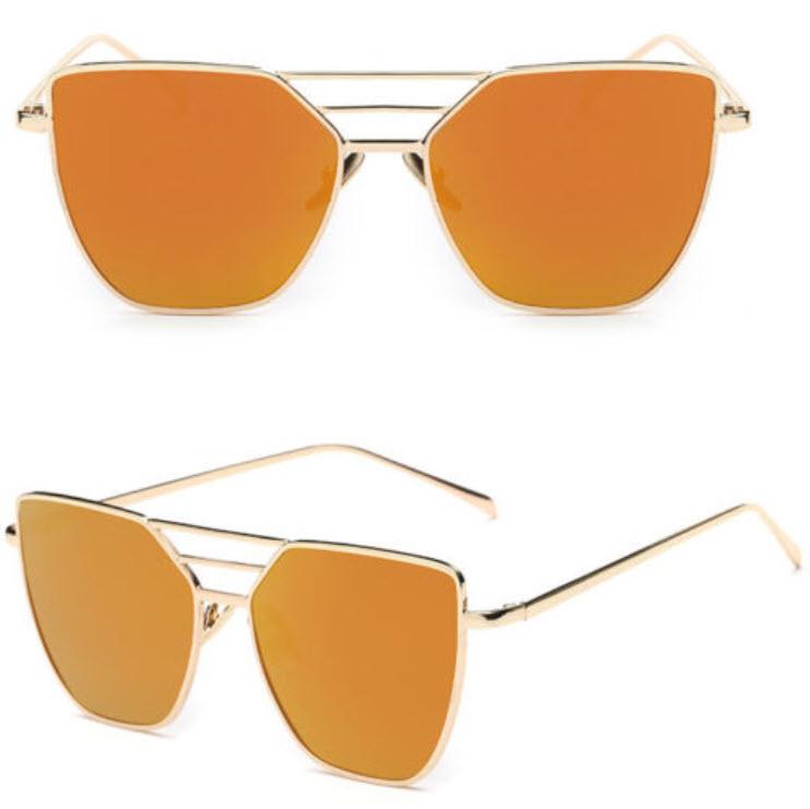 แว่นตากันแดด UV400 สีส้ม