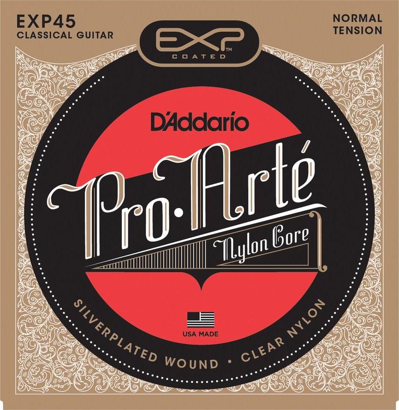 สายกีต้าร์คลาสสิค D'Addario EXP45, Coated, Normal Tension
