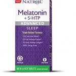 Natrol, Melatonin + 5-HTP, Advanced Sleep, 60 Bi-Layer Tablets
