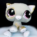ตุ๊กตา LPS แมวสีเทา ขนาด 9 นิ้ว (ของใหม่)