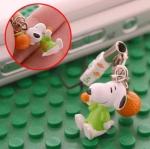 ที่ห้อยมือถือ Snoopy ชุดชาวไร่เก็บส้ม