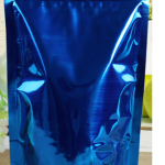 ถุงฟอยด์ ก้นตั้ง ติดซิบ ขนาด12x20cm สีน้ำเงิน แพค50ใบ
