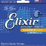 สายกีต้าร์ไฟฟ้า Elixir Nanoweb, Coated, เบอร์ 9-42