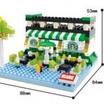 มินิโมเดลร้านกาแฟ 349 ชิ้น (No.8519)
