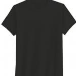 เสื้อสีพื้นไม่สกรีน คอกลม สีดำ