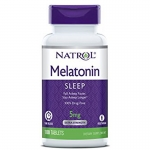 เมลาโทนิน (Melatonin) Time Release, 5 mg, 100 Tablets