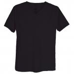 เสื้อยืดสีพื้นไม่สกรีน คอวี สีดำ