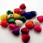 ลูกปัดหัวใจหิน คละสี 8 ม.ม. / 50 เม็ด