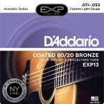 สายกีต้าร์โปร่ง D'Addario EXP13, Coated, 80/20 Bronze, เบอร์ 11-52