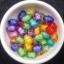 ลูกปัดอะครีลิค ทรงรูปไข่ คละสี 8 ม.ม. / 50 เม็ด (นอก) thumbnail 2
