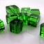 ลูกปัดลูกเต๋าใส 4x4 ม.ม. สีเขียว / 200 เม็ด thumbnail 1
