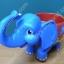 ชุดช้างรองแก้วสีฟ้า thumbnail 1