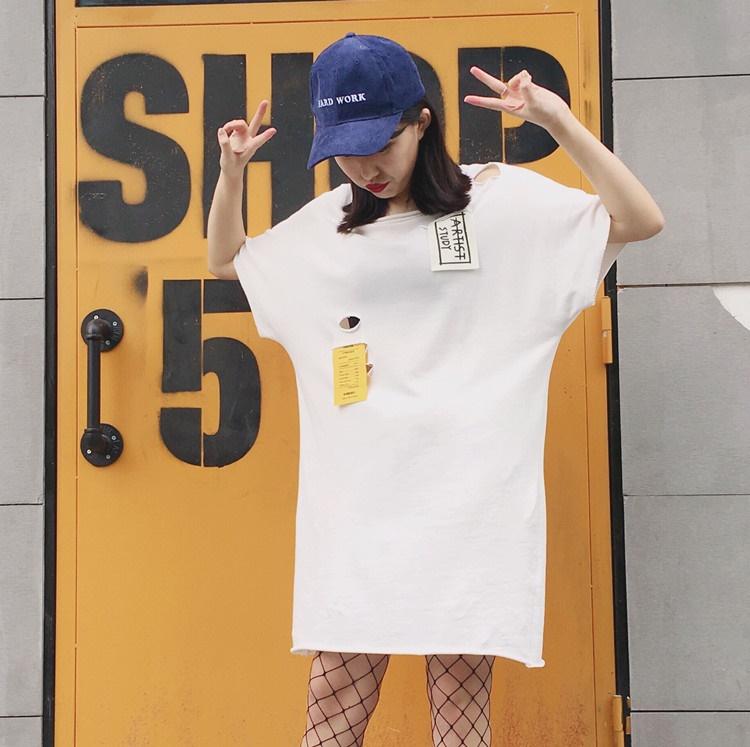 รหัสสินค้า CN-098 เสื้อแฟชั่น ขาว