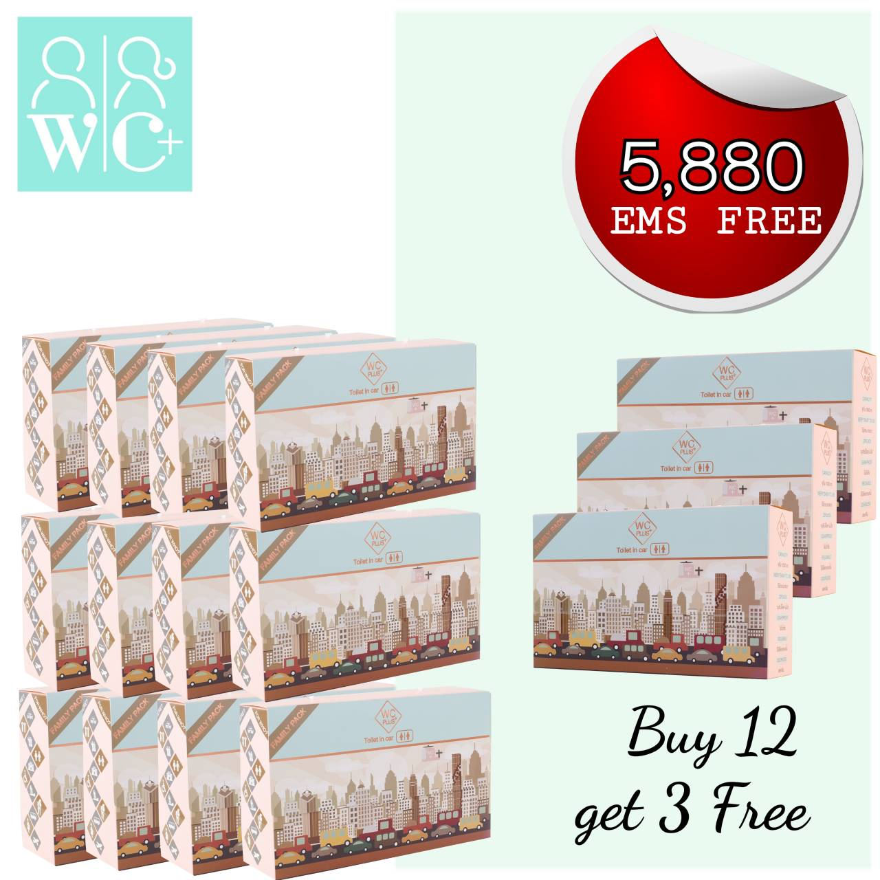 WC Peec Buy 12 get 3 FREE (EMS FREE)