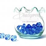 คริสตัลพลาสติก 10มม. สีน้ำเงิน (100 กรัม)