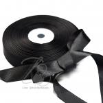 ริบบิ้น 20มม. ผ้าซาติน สีดำ (50 หลา)