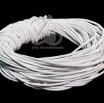 ยางยืด เส้นกลม 1.5มม. สีขาว (10 หลา)