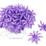 ดอกพิกุลพลาสติก 35มม. สีม่วง (10 กรัม)