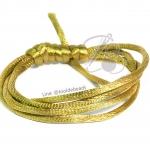 เชือกหางหนู 2มม. สีทองอมเขียว (1 หลา)