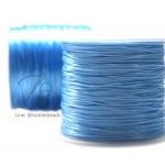 ไหมยืด เส้นแบน สีฟ้าอ่อน (100 หลา)