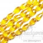 คริสตัลโมดาห์ 8*12มม. สีเหลืองทอง (60 เม็ด)