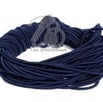 ยางยืด เส้นกลม 1.5มม. สีน้ำเงินเข้ม (10 หลา)