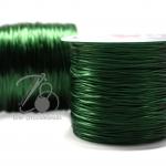 ไหมยืด เส้นแบน สีเขียวเข้ม (100 หลา)