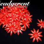 ดอกพิกุลพลาสติก 35มม. สีแดง (10 กรัม)