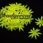 ดอกพิกุลพลาสติก 35มม. สีเหลือง (165 กรัม)
